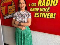 Valéria Foz na Rádio Transamérica Fernandópolis Programa Quintal do Povo