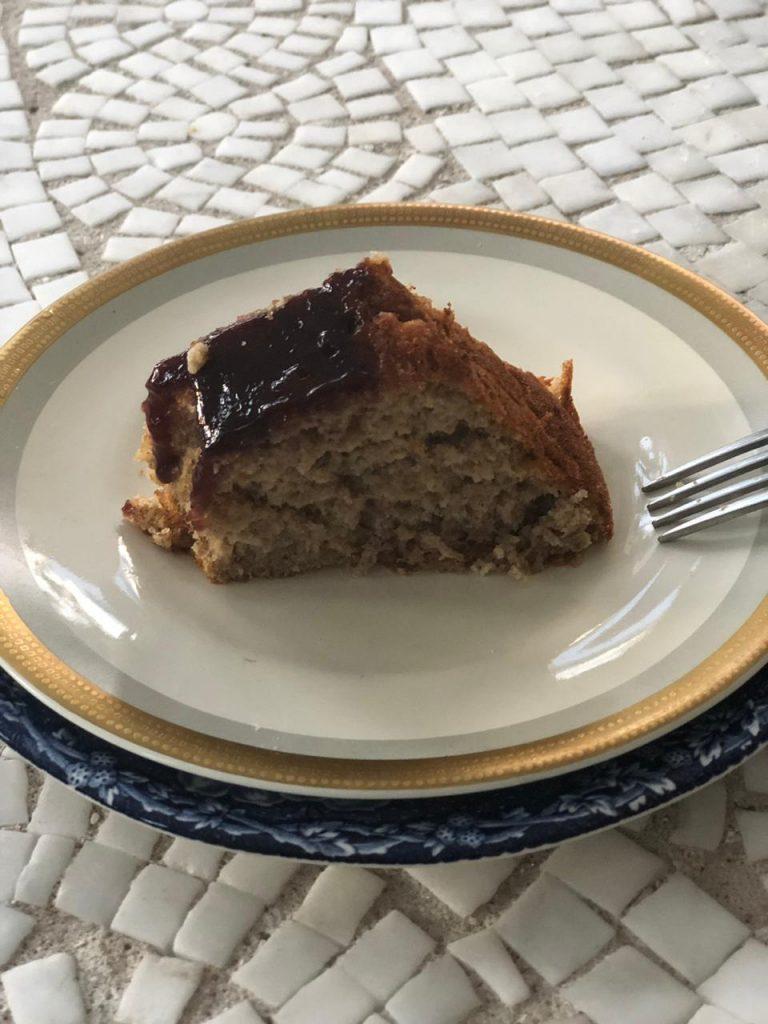 Receita de Torta Saudável de banana e Aveia