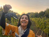 Valéria Foz e as Uvas da região do Priorat Espanha